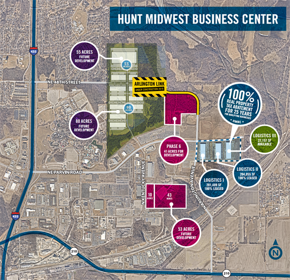 Hunt Midwest Map Image